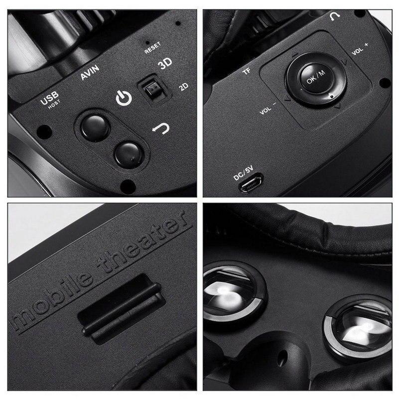 VR Gläser Virtuelle Realität HMD 518 1080 p 3D Video Film Spiel Gläser Private Mobile Kino Persönlichen Theater Spiel Film + 8g TF - 3