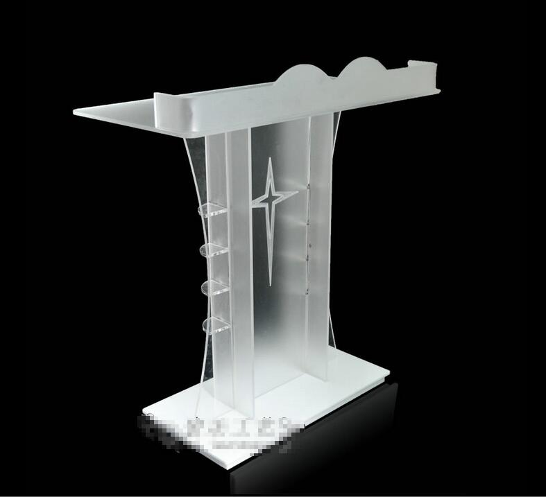 Free Shipping clean commercial acrylic pulpit church / acrylic modern pulpit of the church