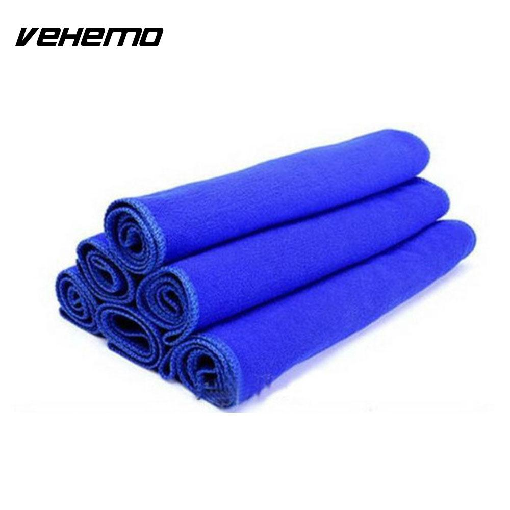 Vehemo 5PCS Microfiber Cleaning Towels Car Wash Cloth Cleaning Duster Cloth Home & Living Car Accessories Soft Cloth