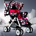 Baby stroller  folding suspension can sit and lie four wheel buggy cart