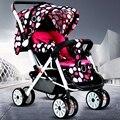 Carrinho de bebê dobrável suspensão pode se sentar e deitar quatro rodas carrinho buggy