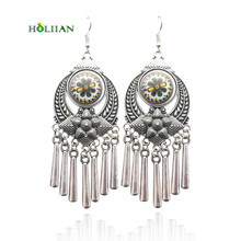 Vintage pendants earrings tribal long tassel ethnic dangle earrings big bohemian geometric boho pendientes mujer moda jewelry