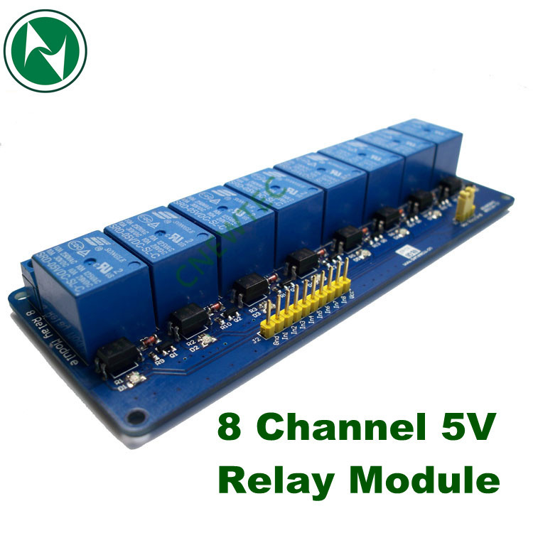 1PCS New 5V 8 Channel Relay Module Board for Arduino PIC AVR MCU DSP ARM Electronic