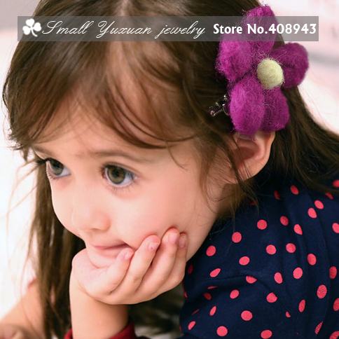 Fashion Children Woman Baby Hair Accessories 9color Handmade Wool