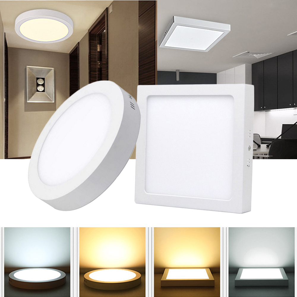 6/12/18/24W Led Panel Lamp AC85-265V Ceiling Light 2835 LED Spotlight Surface-mounted For Corridor Aisle Hotel Bathroom Lighting