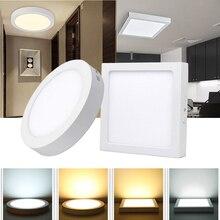 6/12/18/24W светодиодные панели светильник ac85-265В 2835 потолочное освещение светодиодный прожектор поверхностного монтажа для отеля проход коридор освещение ванной комнаты