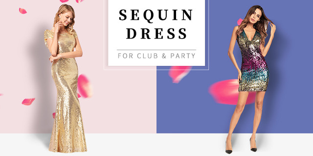 Sequin Dress 800x400 Bandage Dress 800x400 Beach Dress 800x400. UNIQUEWHO  Girls Women ... 3dd9f13b0681
