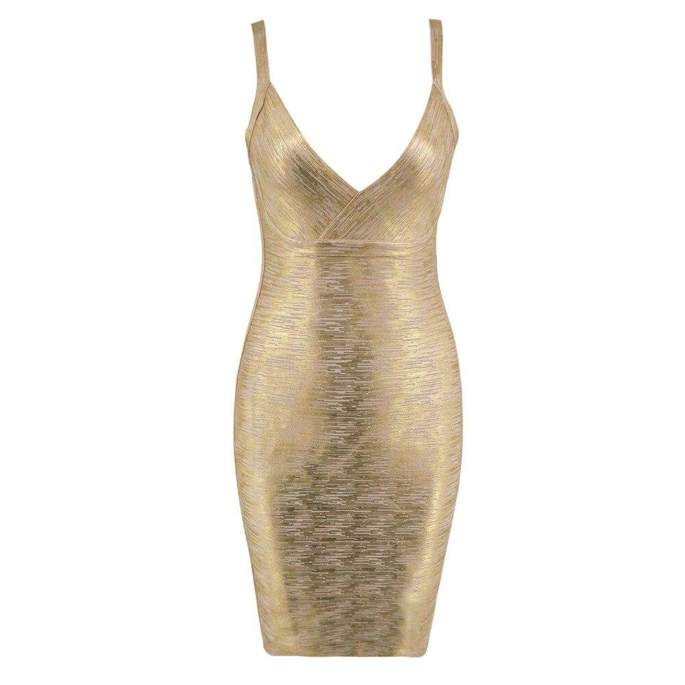Summer Dress Women 2018 New Spaghetti Straps Bodycon Gold Foil Print Dress Sexy Bandage Club Party Dresses