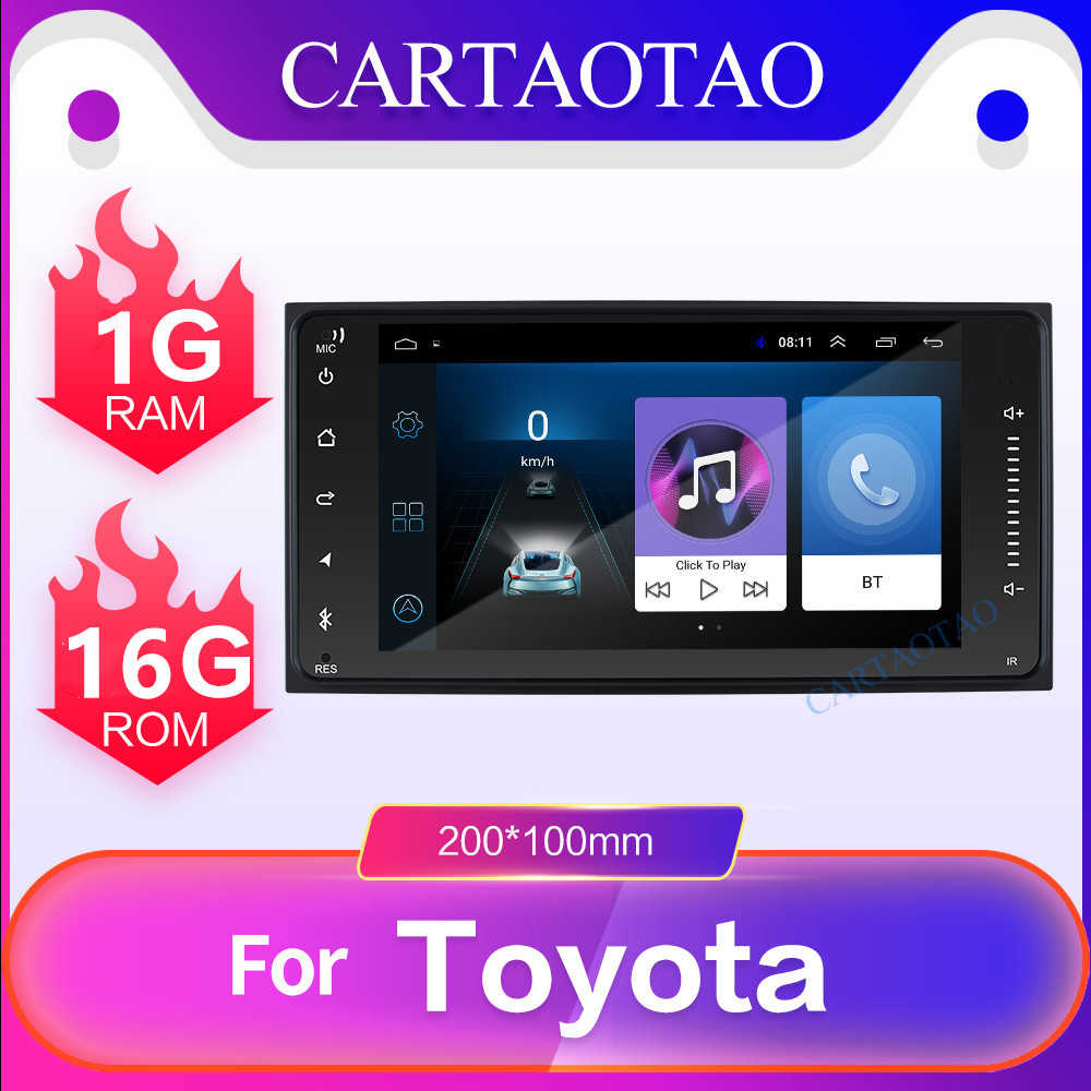 Android 8.1 car dvd player for Toyota Corolla Camry Highlander 2din car radio GPS navigation WiFi Mirror link Multimedia player