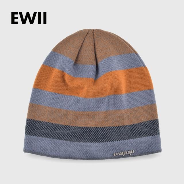 32502cdcb65c9 2017 invierno hombres de punto beanie sombreros para hombres gorros de lana  color sólido sombrero skullies