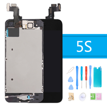 for iPhone 5S LCD Touch Screen Display Digitizer Full Assembly Complete for iPhone 5S Screen Replacement With Repair Tools