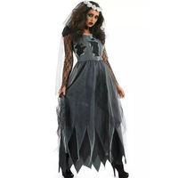 Ghost Bride Costume For Women Adult Halloween Fantasia Cosplay Fancy Dress
