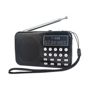 Image 5 - Bon Portable interne utilitaire LED stéréo FM Radio haut parleur soutien USB TF carte MP3 lecteur de musique T508 Mini haut parleur magnétique