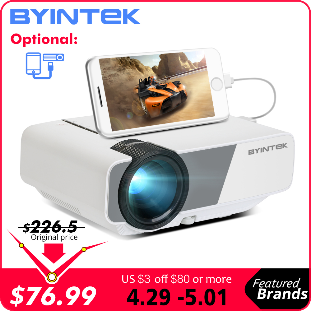 BYINTEK SKY K1/K1plus LED Portable Home Theater HD Mini Projector(Optional Wired Sync Display For Iphone Ipad Phone Tablet)