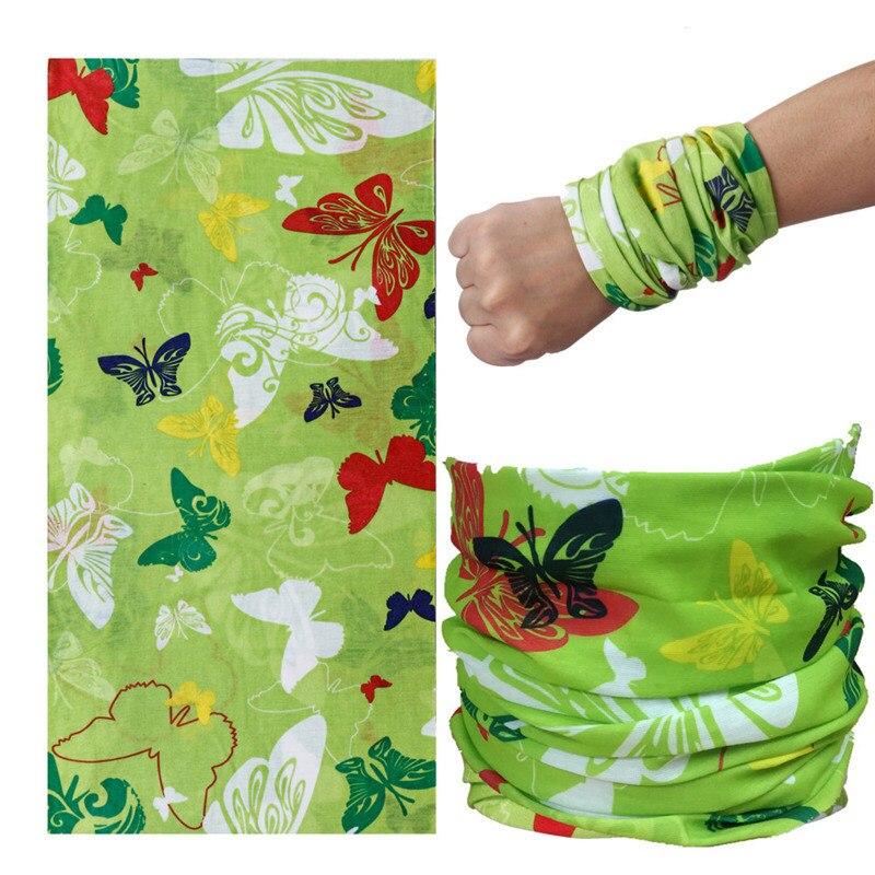 2018 New Green Butterfly Bandanas Elastic Magic Headband For Girls Seamless Women Men Party Sports Hair Accessories Face Mask