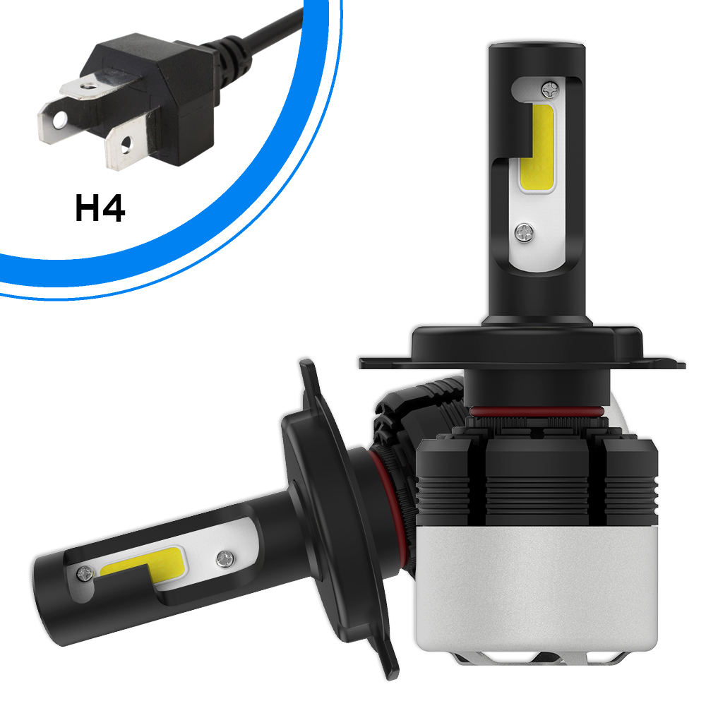 Universal <font><b>H4</b></font> <font><b>LED</b></font> Motorcycle <font><b>Headlight</b></font> Bulb <font><b>6000LM</b></font> 36W Hi/Lo Conversion Kit 6500K Moto Super Bright <font><b>Headlight</b></font> <font><b>LED</b></font> Bulbs Headlamp image