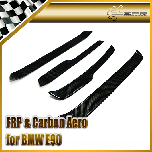 Car Styling For BMW E90 3 Series Carbon Fiber Door Sill Step <font><b>Panel</b></font>