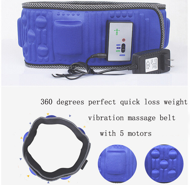2016 Body Wrap Electric X5 Times Slimming Massager Belt Vibra Tone Relax Vibrating Fat Burning Weight Loss Losing Effective