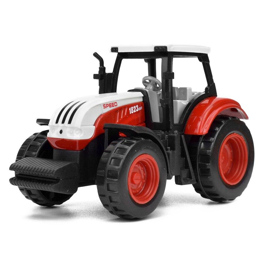 種類合金ファームトラックダイキャスト車エンジニアリングバントラクターモデルおもちゃ子供の教育玩具ミニ農民車ギフト LIHUI Mobile Nadler