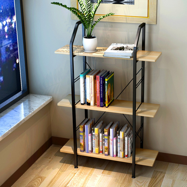 Resistant Home Bookshelf Minimalist Desk Bookcase Combination Of Low Environmental Shelving Storage Rack Simple Small