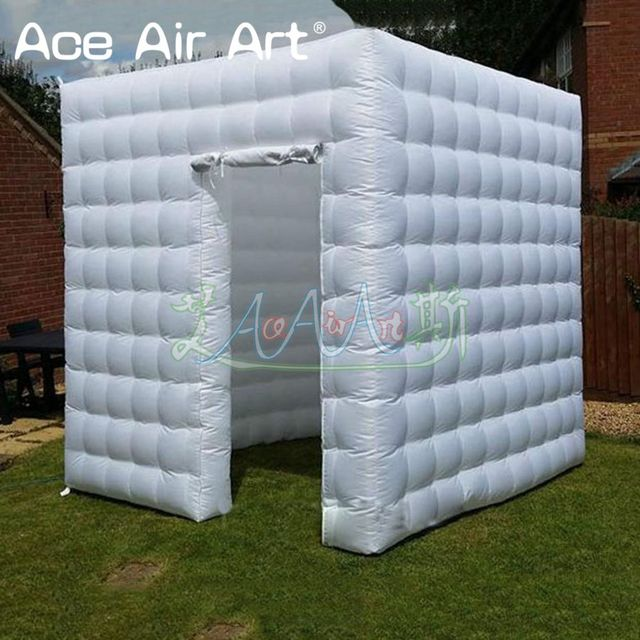 Unique style Partial right door oxford material inflatable photo booth backdrop,photo lawn wedding party kiosk for display