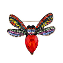 Hot New Exquisite Fashion Rhinestone Animal Pin Brooch Lovely Insect Bee Brooches For Women Men Jewelry Little