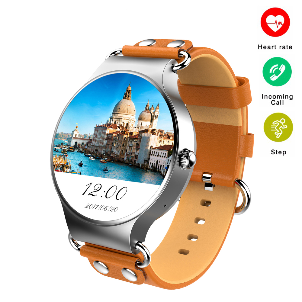 Смарт-часы Android 5,1 3G Wi-Fi gps часы KW98 Smartwatch монитор сердечного ритма шагомер для Xiaomi PK KW88 KW99 жизни Водонепроницаемый