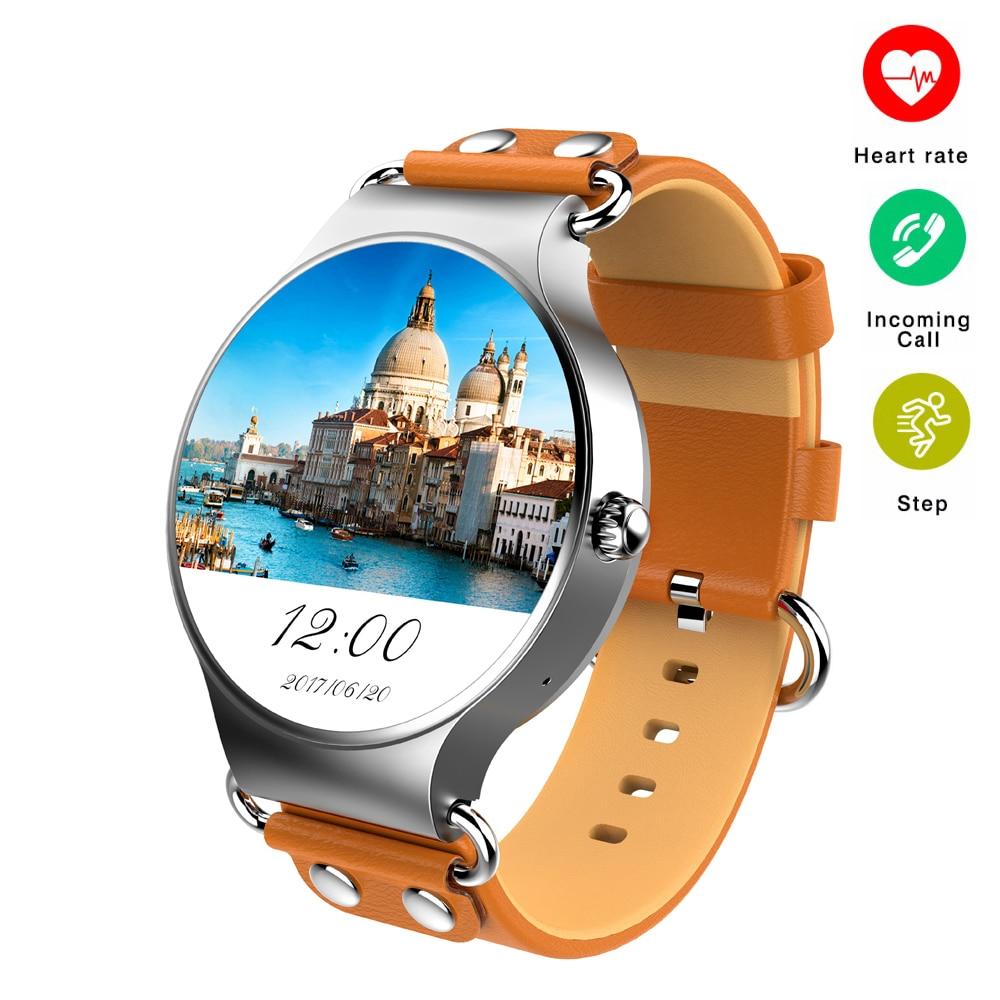 Montre intelligente Android 5.1 3G WIFI GPS montre KW98 Smartwatch moniteur de fréquence cardiaque podomètre pour Xiaomi PK KW88 KW99 vie étanche