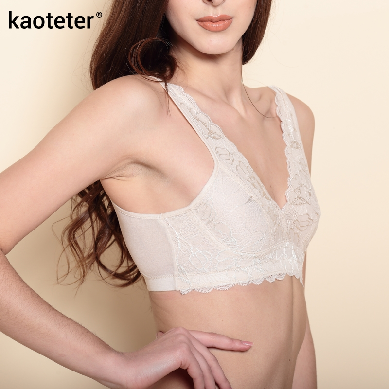 100% Pure Silk Womens Bras Women No Steel Circle Brassiere Spring Summer Thin Female Bra Seamless Sleep Underwear Young Woman