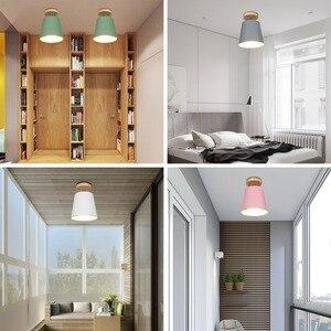 Image 3 - LED תקרת אור ברזל עץ תקרת מנורות נורדי מודרני תקרת סלון חדר שינה קישוט קבועה מסדרון מטבח