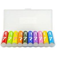 MP 2019 New Rainbow aaa eco-rechargeable battery 1.2V 1000mAh ni-mh aaa battery for flashlight&cameras colorful aaa battery Rechargeable Batteries