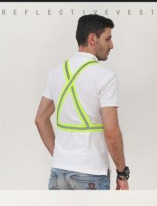 Image 3 - מתכוונן רעיוני אפוד בטיחות נראות גבוהות מעיל רכיבה על אופניים בגדים רעיוני חגורת עבור מבוגרים וילדים בטיחות אפוד