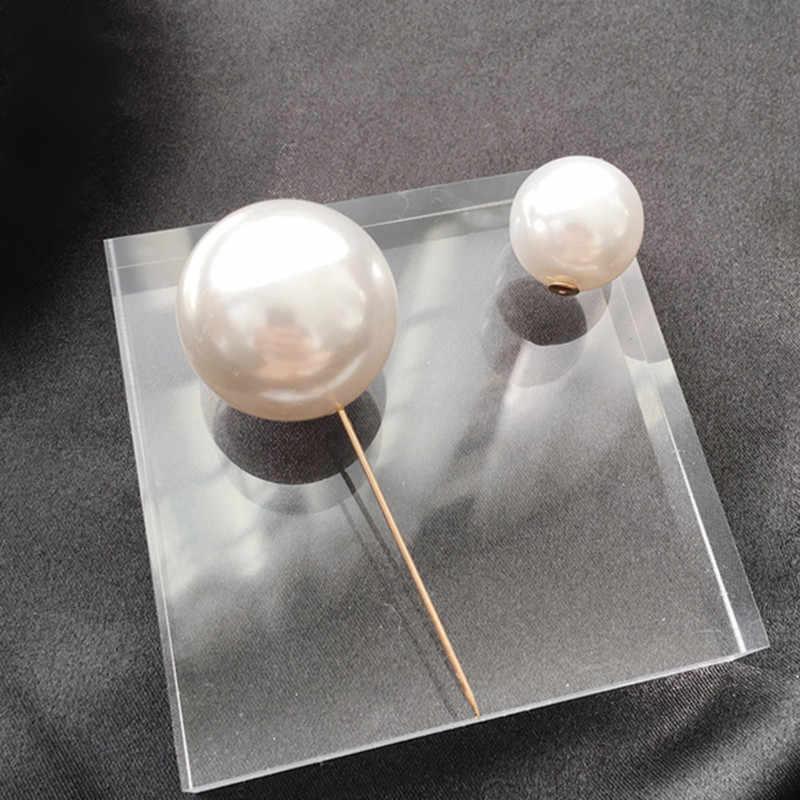 مجوهرات عصرية بسيطة الحجم اثنين من اللؤلؤ التقليد بروش دبابيس للمرأة الفتيات مزاجه سترة سترة وشاح مشبك دبابيس