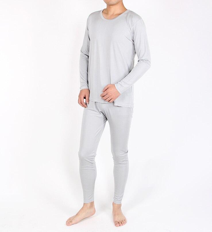 Sous-vêtement thermique en soie tricoté pour hommes 100% mûrier soie couleur pure à manches longues pantalons longs Johns