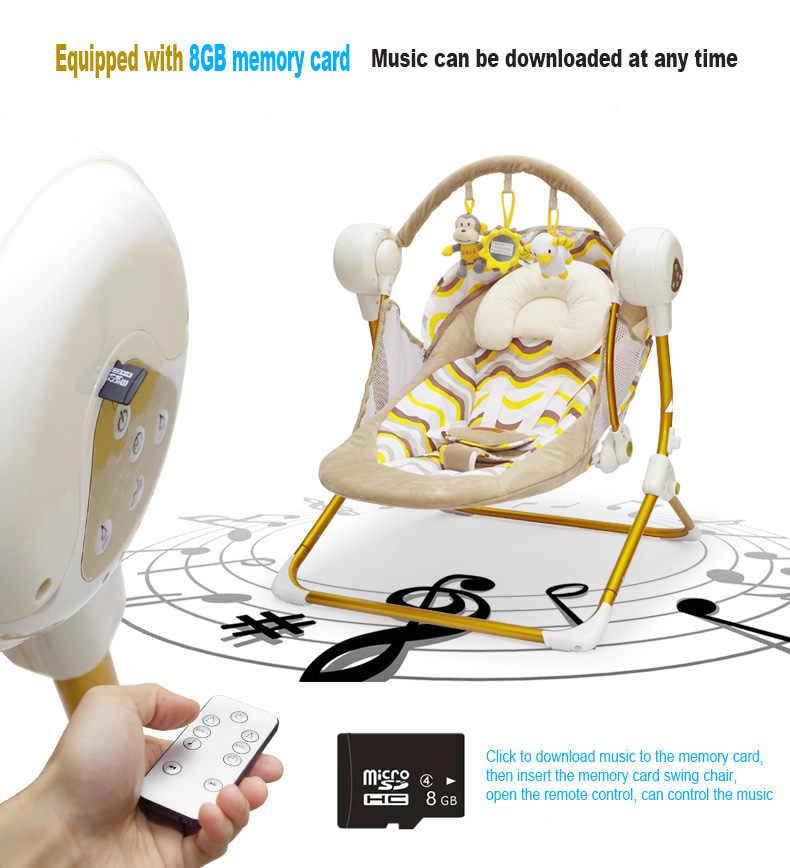 Брендовые колыбели электрические детские качели музыкальное кресло-качалка Автоматическая Колыбель детская спальная корзина Золотая рамка
