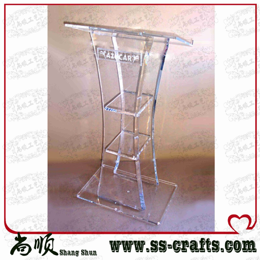 Modern Design,cheap Hot Delling Acrylic Pulpit/Lucite Podium/Acrylic Lectern Plexiglass