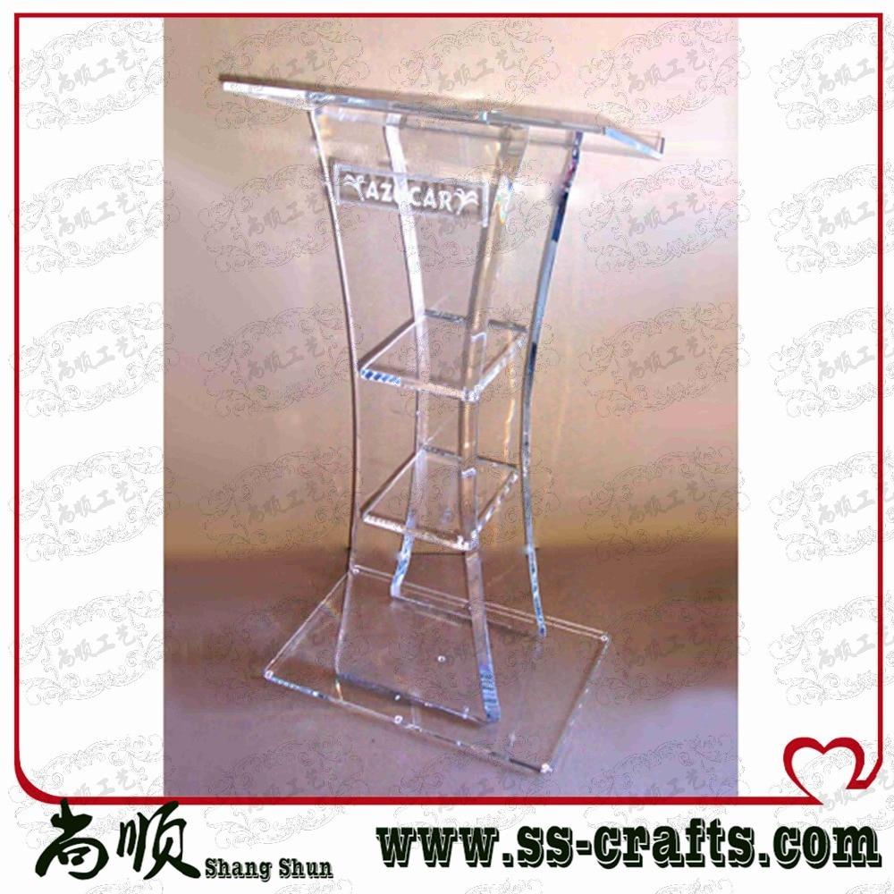 Modern Design,cheap Hot Delling Acrylic Pulpit/Lucite Podium/Acrylic Lectern Plexiglass