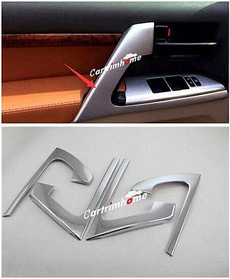 ФОТО Car Door Armrest Stripe Cover Trim 4pcs for Toyota Land Cruiser LC200 2008-2016