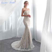 Sapphire Bridal Vintage Mermaid Bridal Gowns White Ivory Champagne Sexy Lace Wedding Dresses For Brides Hot Sale Long Party Gown