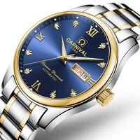 Szwajcaria luksusowy męski zegarek karnawał marka zegarki mężczyźni automatyczny mechaniczny reloj hombre świecący zegar Sapphire C 8612G 4 w Zegarki mechaniczne od Zegarki na