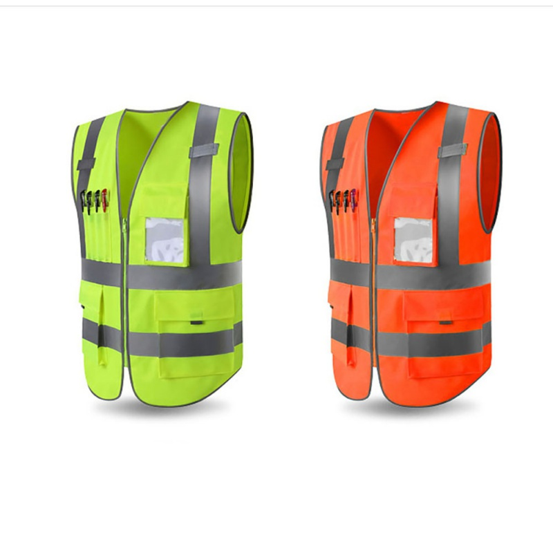 Unisex High Visibility Safety Vest Jacket & Pocket Bag Reflective Zipper Safety Jacket Outdoor Vest Uniform Sportswear Promoting Health And Curing Diseases