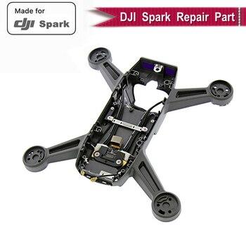 Carcasa de cuerpo de Marco medio genuino 100% para DJI Spark cubierta cuerpo carcasa de repuesto DJI Spark RC Drone medio marco accesorios originales