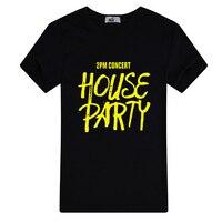 2016 kpop 2 pmコンサートハウス部分印刷tシャツファン支持的oネック半袖tシャツプラスサイズカジュアル夏トップtシャ