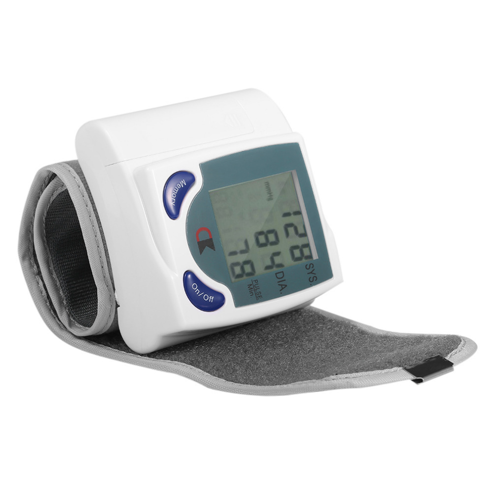 Hot selling home automatic wrist digital LCD blood pressure monitor portable blood pressure meter free shipping in Blood Pressure from Beauty Health