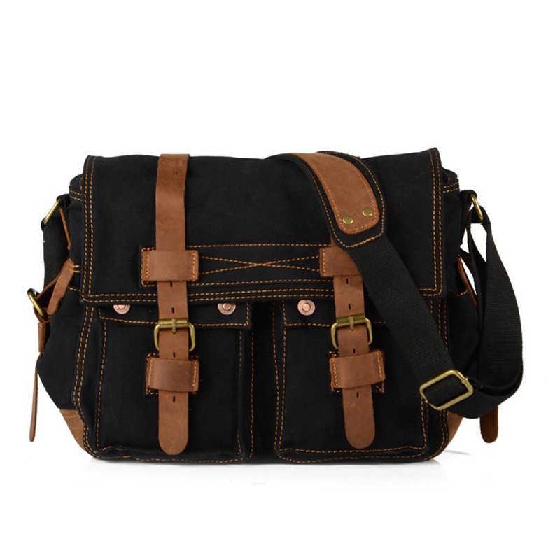 c01036b68f56 ... Vintage Men Messenger Bags Canvas Handbags Men s Crossbody Sacoche  Homme Satchel Man Satchels Bolsos Men s Travel ...