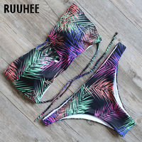 RUUHEE Bikini Swimwear Swimsuit Bathing Suit Biquini 2017 Printed Bikinis Set Women Push Up Beachwear Maillot