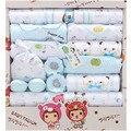 18 Unids/set Cuatro Temporada Recién Nacido Lindo algodón de Los Cabritos Ropa de Bebé Conjunto infantil bebé ropa de los muchachos y las niñas establece un Nuevo Estilo de Juego del regalo del bebé