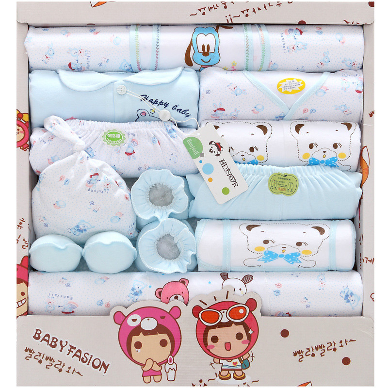 18PCs/Set Four Season Newborn Cute cotton Kids Baby Clothes Set infant baby boys clothes and girls sets New Style Suit baby gift  newborn baby halloween vampire cosplay jumsuit toddler boys girls funny cute clothes set kids photography props birthday gift
