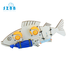 SZ STEAM Bionic Mechanical Fish Science Technology Handmade Part DIY Robot Electric Fish Children Manual Material Assembly Kit