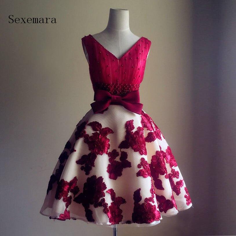 free shipping vestido de noiva 2018 v-neck formal prom ball gowns casamento Custom size/color short lace   bridesmaid     dresses
